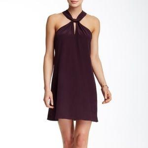 NWT Acrobat | Knotted Halter Silk Dress
